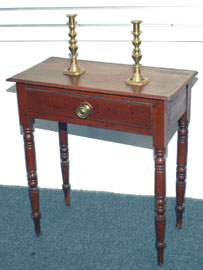 Early One Drawer Stand with Old Red