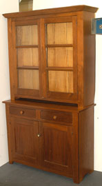 Walnut Step Back Cupboard