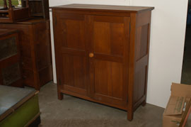 Early Walnut Linen Press