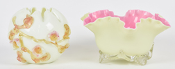 Two Pieces Victorian Art Glass