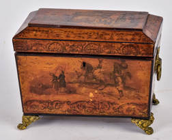 Early Decorated Tea Caddy