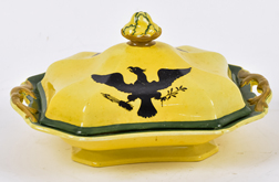 Early English Covered Dish with American Eagle