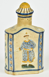 18th Century Prattware Tea Caddy