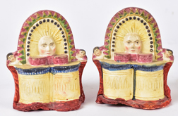 18th Century Staffordshire Mantle Pieces