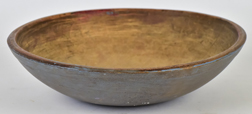 Early Blue Painted American Wood Bowl