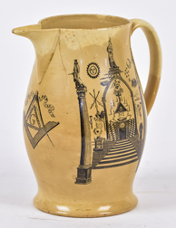 Early Masonic Liverpool Jug
