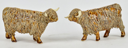 Pair Scottish Figurines of Cattle