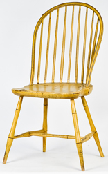 Early Bow Back Windsor Chair in Original Paint