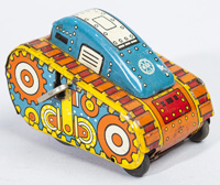 MARX ROLLOVER TANK WINDUP TOY