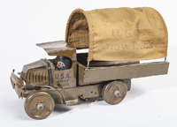 EARLY MARX WINDUP ARMY TRUCK