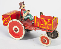MARX FUNNY FIRE FIGHTERS WINDUP TOY