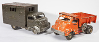 TWO SMITH-MILLER TOY TRUCKS