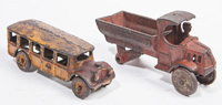 TWO CAST IRON VEHICALS