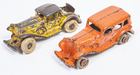 TWO CAST IRON AUTOMOBILES
