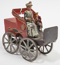 ATTRIBUTED DAYTON FRICTION CO. CAST IRON TOURING AUTOMOBILE