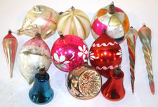 EARLY BLOWN GLASS CHRISTMAS ORNAMENTS