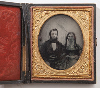 UNCLE SAM RELATED FAMILY AMBROTYPE PHOTO