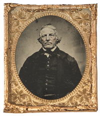RARE FERROTYPE PHOTO OF THE ORIGINAL UNCLE SAM, SAMUEL WILSON