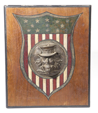 UNCLE SAM MOUNTED BRONZE PLAQUE
