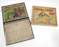 UNCLE SAM SPELLING BOARD & PUZZLE