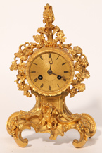 Gilt French Mantle Clock by Savory & Fils