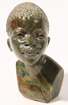 Marble Bust of Young African