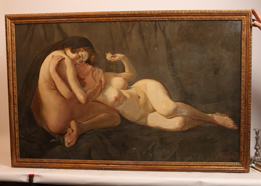 J. Hendel Late 19th Century Nude Oil Painting
