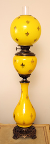 Large Victorian Decorated Banquet Lamp