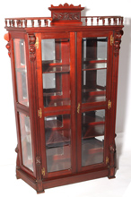 Outstanding Cherry Victorian Curio Cabinet