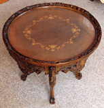 Louis XV Style Carved Inlaid Stand