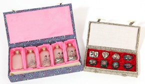 Chinese Boxed Sets of Snuff Bottles & Boxes