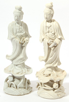 Two Chinese Blanc de China Figures