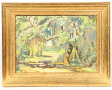SIGNED WEST ARTS & CRAFTS  IMPRESSIONIST OIL PAINTING