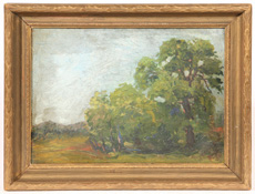 ILLEGIBLY SIGNED EARLY 20TH CENTURY OIL PAINTING