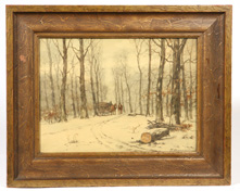 ILLEGIBLY SIGNED EARLY 20TH CENTURY WATERCOLOR PAINTING