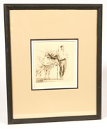 ILLEGIBLY SIGNED EARLY 20TH CENTURY LITHOGRAPH