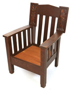 CINCINNATI SHOP OF THE CRAFTERS OAK ROCKER