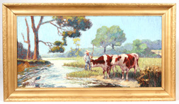 EARLY 20TH CENTURY SIGNED CALIFORNIA STYLE PAINTING