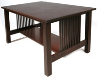 GUSTAV STICKLEY SPINDLED LIBRARY TABLE