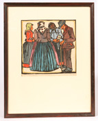 EARLY 20TH CENTURY COLORED LITHOGRAPH