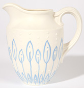 PARIAN CREAMER DECORATED BY HENRY MEAKIN