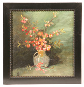 EARLY 20TH MONOGRAMMED CENTURY OIL PAINTING