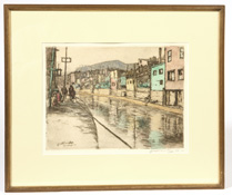 EDWARD T. HURLEY  (ROOKWOOD ARTIST) COLORED ETCHING