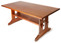 "RARE GUSTAV STICKLEY 72"" TRESTLE TABLE"
