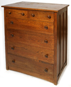 ARTS & CRAFTS 6-DRAWER  CHEST OF DRAWERS