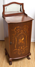 Marquetry Inlaid Music Cabinet