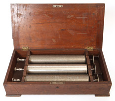 "Three 11"" Music Box Cylinders"