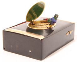 Swiss Singing Automaton Bird Box