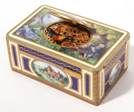 French Enameled Singing Automaton Bird Box