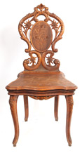 Carved Black Forest Musical Chair